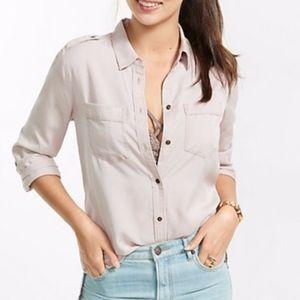 XS EUC Express Silky Soft Twill Boyfriend Shirt